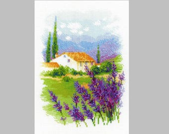 NEW UNOPENED Counted Cross Stitch KIT Riolis 1691 Farm in Provence Flowers
