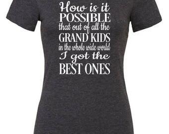 Grandma Shirt - Grandma Gift - Grandma Birthday Gift - Gift for her - Mothers Day Gift - Nanna Gift - Nanny TShirt - Grandma Tee - Nanny Tee