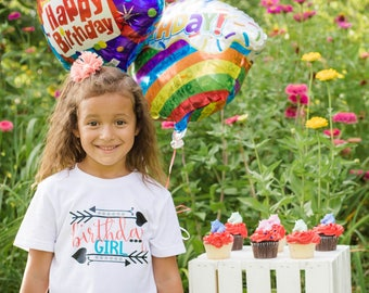 Birthday Shirt - Girls Birthday Shirt - Birthday Girl - Birthday Girl Shirt - Arrow Birthday - Bday Shirts - Birthday Tees - Birthday Tshirt