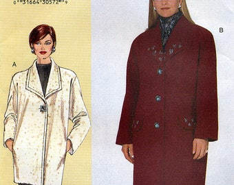 Vogue Today's Fit 7143 Misses' Coat Sewing Pattern by Sandra Betzina - Uncut - Size A, B, C - Bust 32, 34, 36