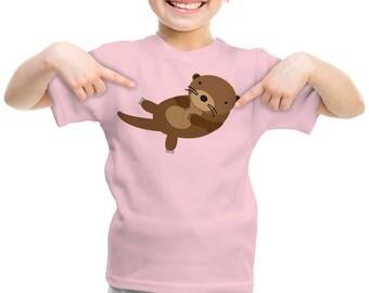 T-shirt, children's Otter t-shirt for girl or boy