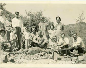 "Vintage Photo ""Arizona Campers"" Snapshot Antique Black & White Photograph Found Paper Ephemera Vernacular Interior Design Mood - 13"