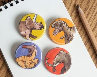Dinosaur Magnets - 38mm diameter