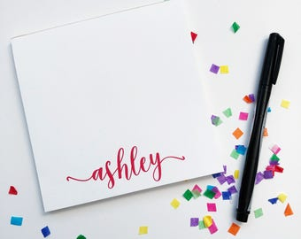Personalized Notepad with Name / Housewarming Gift / Notepads / Shopping List / Personalized Gifts / Custom Notepads / Stationery