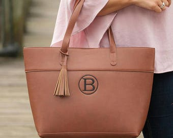 Brown Purse/Tote/Handbag-Personalized Monogram Included