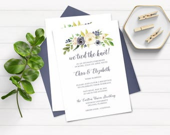 Elopement Party Invitations, We Eloped Party Invitations, We Married Party Invitation, Just Married, Reception Only Invitations,