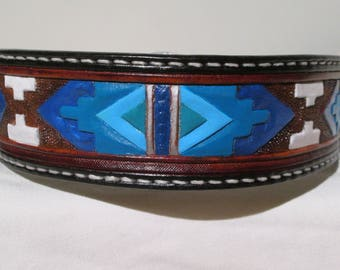 Great Dane Collars, Alaskan Malmute collars, German Shorthaired, Giant Schnausers collars, Native American design dog collars