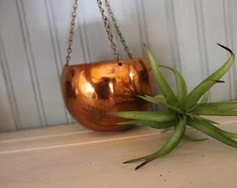 Vintage Copper Plant Holder (Succulent)