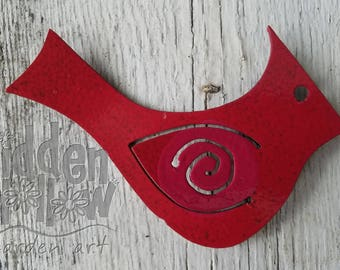 Cardinal Magnet 3-pack - Hidden Hollow Garden Art