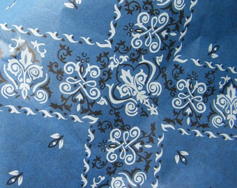 Blue Bandanna Tissue Paper Sheets Cowboy Party Gift Tissue - Country Western Rustic - Camping Party Gift Wrap Paper - 12 sheets