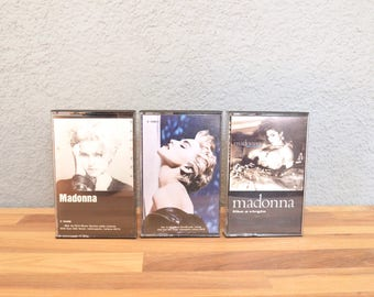 Madonna Cassette Tape Lot Self Titled / Like A Virgin / True Blue 80s 1980s