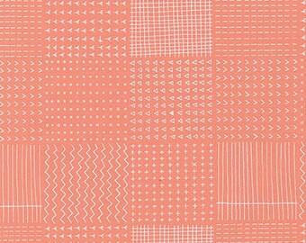Blueberry Park Rough Patch in Creamsicle, Karen Lewis Textiles, Robert Kaufman Fabrics, 100% Cotton Fabric, AWI-15751-152 CREAMSICLE