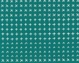 Blueberry Park Sprouting Row in Ultra Marine, Karen Lewis Textiles, Robert Kaufman Fabrics, 100% Cotton Fabric, AWI-15752-360 ULTRA MARINE