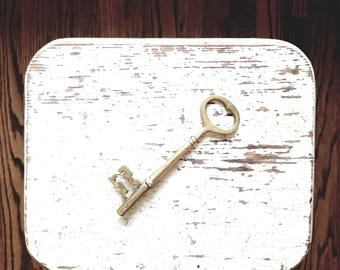Large Brass Skeleton Key // Solid Brass
