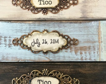 Picture Frame Personalize Wood Photo Block Pet Frame Baby Frame Boy Frame with Name Home Decor Rustic Wood