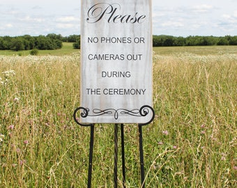 Wedding sign/no phones wedding sign/rustic wood wedding sign/no cell phones wedding sign/wedding ceremony sign/wooden sign