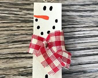 Jenga block Snowmen