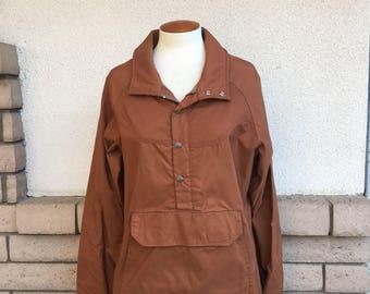 Vintage 80s 90s Jansport Rust Windbreaker Jacket Size Medium