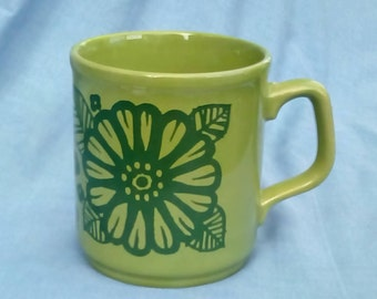 Vintage Cartwright and Edwards Green Mug - C & E Made in England - 1970s