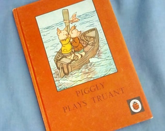 Piggly Plays Truant - Vintage Ladybird Book - Series 401 - Tally 190 - 1967 - 2/6d - Matt Covers - Hardback