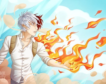 Todoroki Fire and Ice Print [10x15]