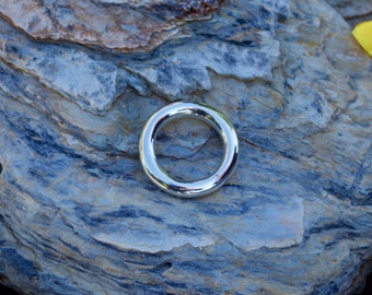 """Sterling Silver Ring Silver Ring  Womens Ring Handmade Silver Stackable """"Heavey Weight Round Ring"""" Jewellery designed & made by Anna"""