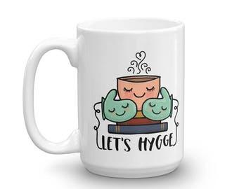 Let's Hygge 15 oz. Illustrated Coffee Mug