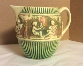 Roseville Pottery Donatello Pitcher Jug