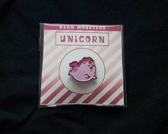 Enamel Pin - Unicorn Bean Monster