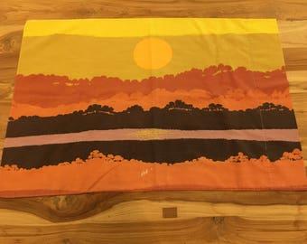 Vintage Standard Pillowcase Sunrise Over Savannah Horizon