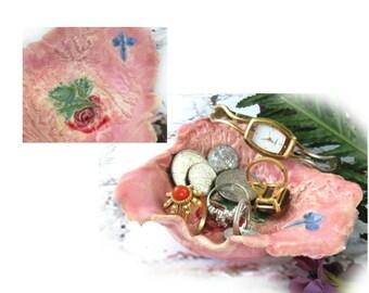 small ceramic dish -  unique Trinket Dish,  ring dish -  Ceramic jewelry dish ,  Handmade Trinket Dish , gift under 20,  # 172
