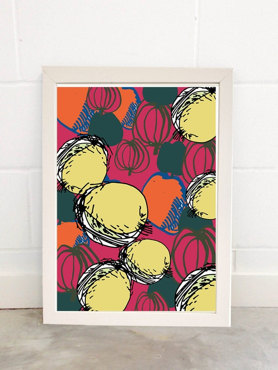 Fruits  A3 Open Edition Print Poster Illustration Decor