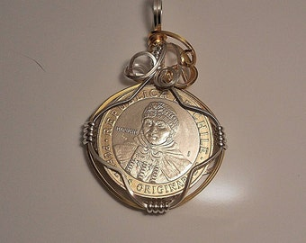 Coin Pendant Etsy