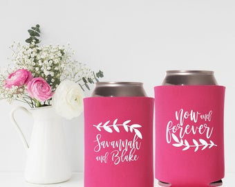 Personalized Can Coolers | Wedding Can Coolers | Now and Forever | Wedding Party Favor | FREE Standard Shipping