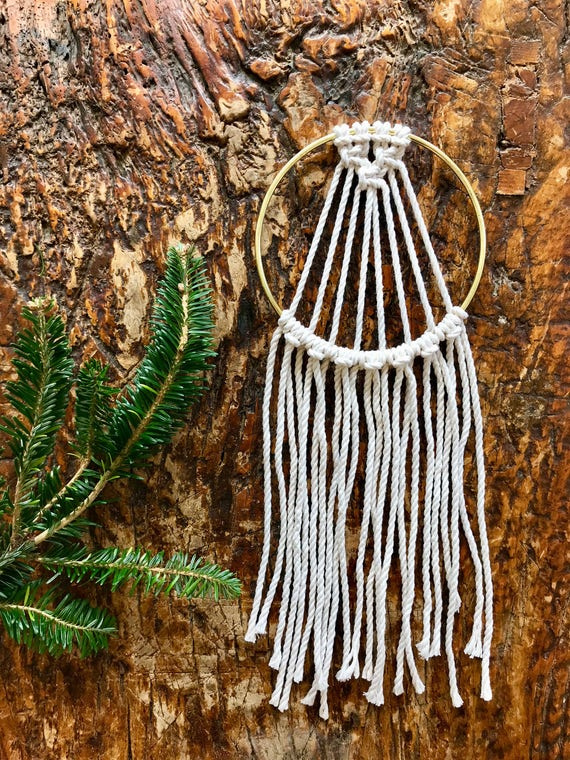 Mini Macrame Dream Catcher Ornament
