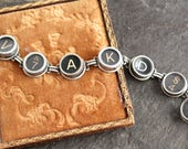 Typewriter Key Bracelet r...