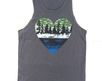 Screen printed Shirt,Outdoor Lover tank top, ADULT  tank, mens clothing, mens, Summer tank