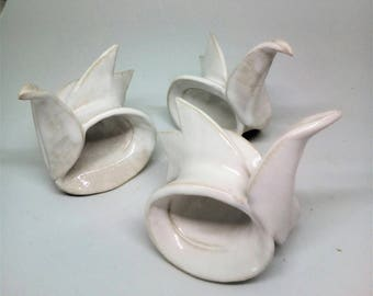 Circle bird, ceramic bird, home decor. Napkin ring bird .