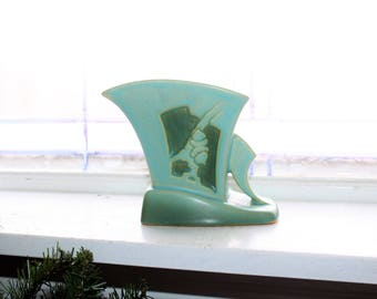 Art Deco Roseville Pottery Silhouette Vase 756 Vintage 1920s