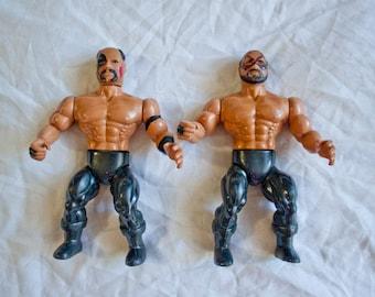 1985 The Road Warriors Wrestlers - Vintage Remco All Star - AWA Hawk & Animal Legion Of Doom