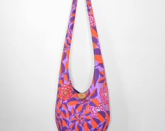 Hobo Bag Boho Bag Hippie Purse Crossbody Bag Sling Bag Bohemian Purse Hobo Purse Hippie Bag Hobo Bag Handmade Purse Floral Boho Purse