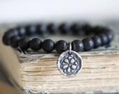 Black Onyx, Matte Finish, 8mm, Stretch Bracelet, Beaded Bracelet, Bead Bracelet, Stacking Bracelet