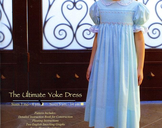 Smocked Dress Pattern / Smocked Square Yoke  Pattern / Smock Dress Pattern / Smocking Plates /   by Ellen McCarn
