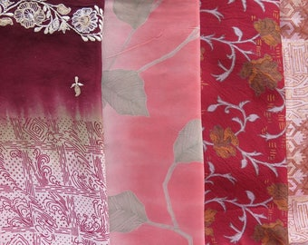 Fat Quarters, Silk Fabric, Sari Silk 22