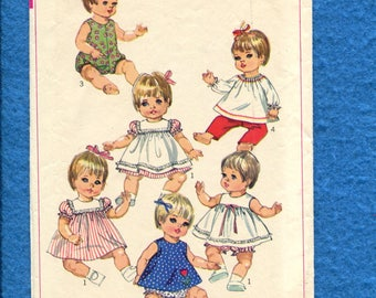 Vintage 1968 Simplicity 5947 Baby Doll Clothes Pattern for 12/13  inch Dolls