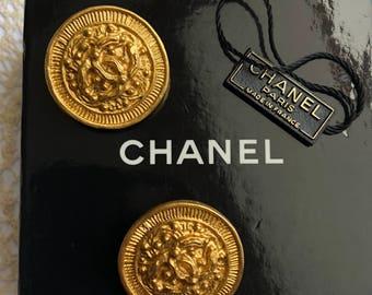 Chanel, Earrings, Vintage Jewellery, Genuine, Costume Jewellery, Wedding Jewellery, UK Seller, Designer Jewellery