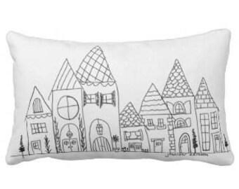 House Row Pillow