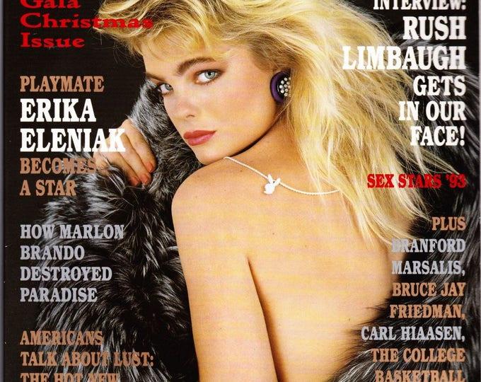 Vintage Playboy Magazine December 1993 with Erika Eleniak, Northwestern Exposure, Rush Limbaugh, Branford Marsalis, Sex Stars 1993
