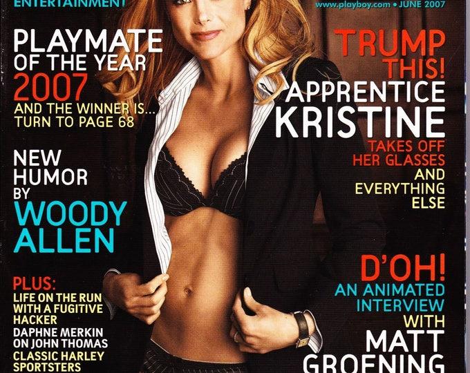 Playboy Magazine June 2007 with The Apprentice Kristine Lefebvre, Brittany Binger, The Simpson's Matt Groening, Comic Don Rickles