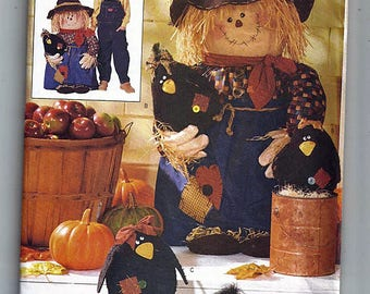 Porch Scarecrow & Crows / Original Butterick Home Decorating Uncut Sewing Pattern 6298